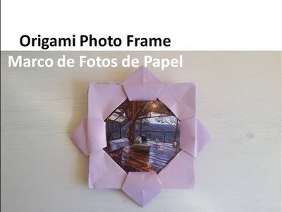 #Origami Photo Frame Tutorial - Marco para Fotos de Papel