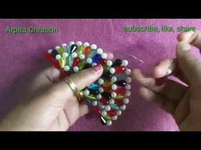 Part-1. Easy. beautiful beads bag tutorial video made by Arpita Creation.
