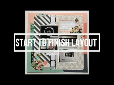 Scrapbooking Layout - Start to Finish (#1)