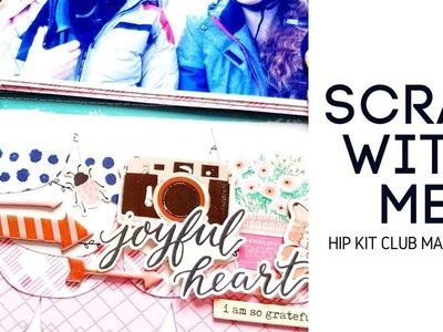 Scrapbooking Process- Hip Kit Club March 2018