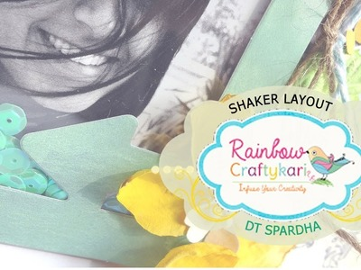 Shaker Scrapbook Layout Tutorial with DT Spardha
