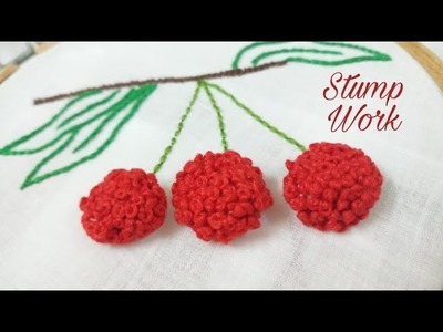 Stump Work - French Knot Stitch (Hand Embroidery Work)
