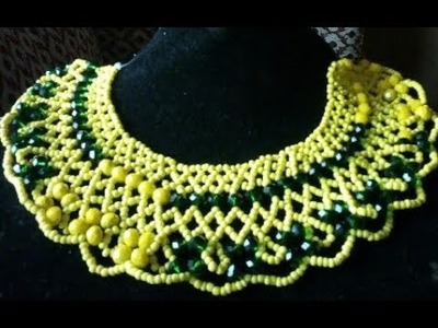 The tutorial on how to make this beaded jewelry