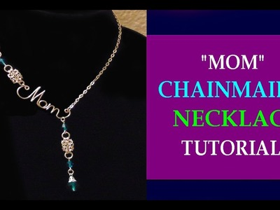 """TUTORIAL - """"MOM"""" NECKLACE FOR MOTHER'S DAY 