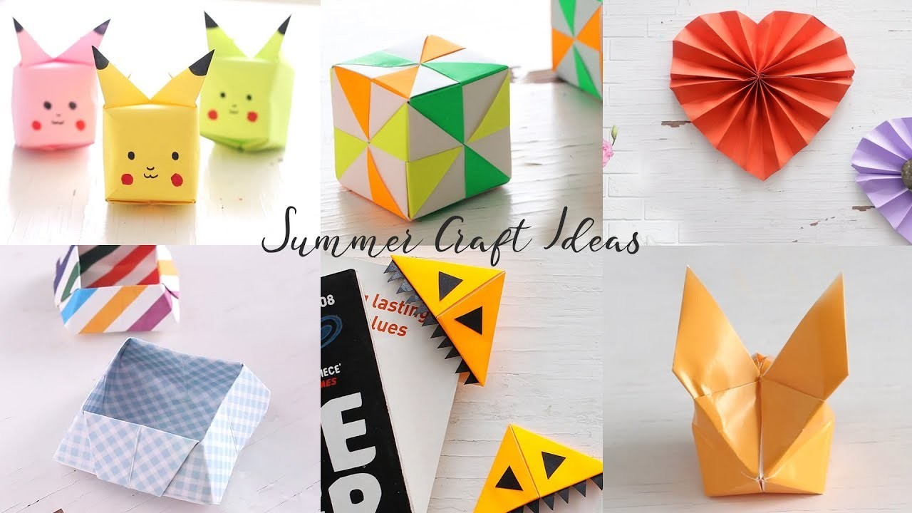 6 Simple Summer DIY Craft Ideas | Summer Holiday Crafts