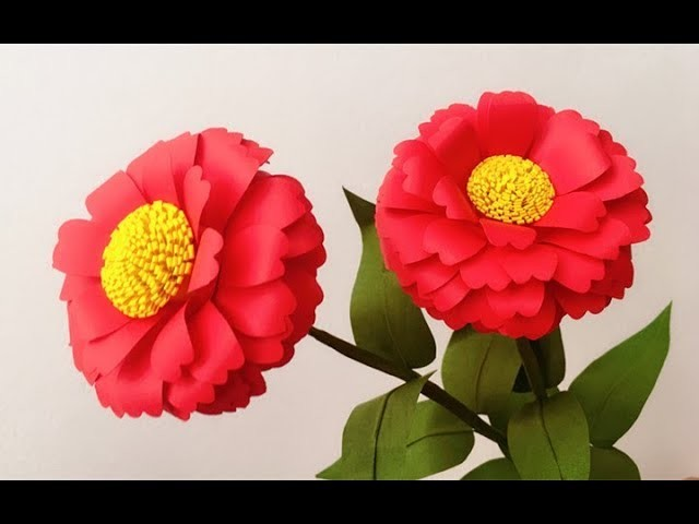 ABC TV   How To Make Zinnia Paper Flower With Shape Punch - Craft Tutorial