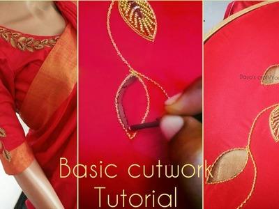 Basic cutwork tutorial for beginners| aari work Tutorial