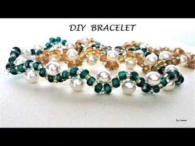 Beaded bracelet tutorial for beginners ????The easiest pattern ????