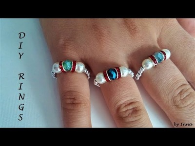 Beaded rings. How to make stunning ring in less than 5 minutes ????????????