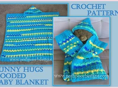 Bunny Hugs Hooded Baby Blanket Crochet Pattern