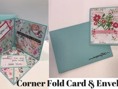 Corner Fold Card & Matching Envelope