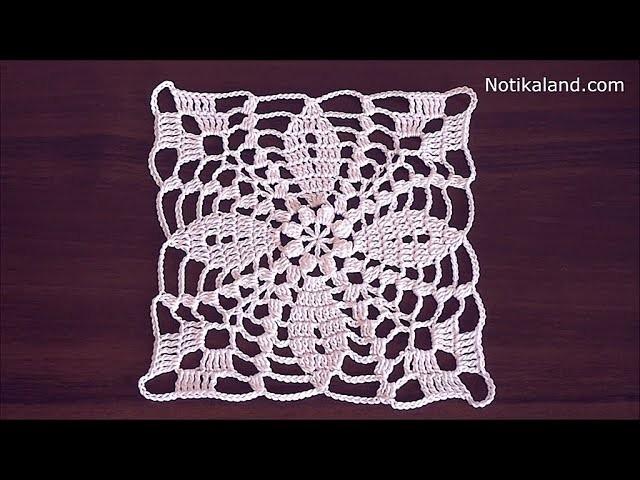 Crochet flower motif tutorial Crochet lace motif patterns free