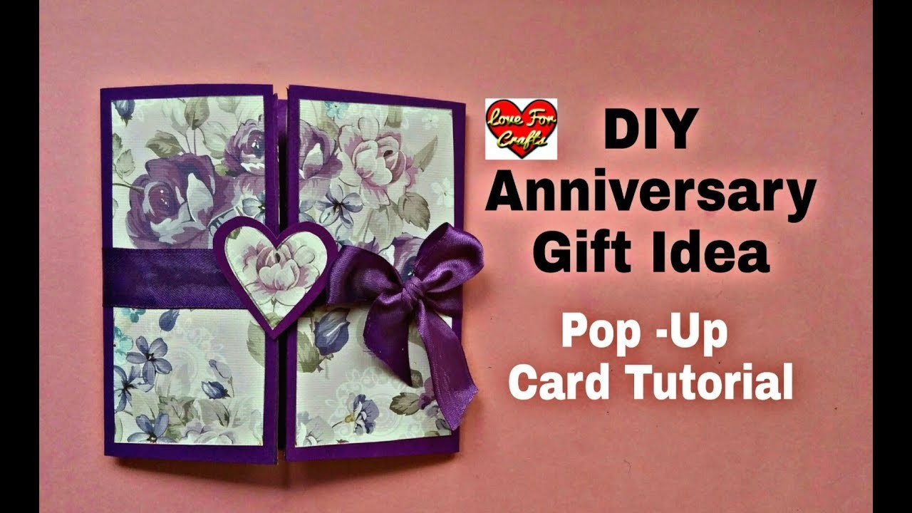 Diy Anniversary Gift Idea Anniversary Valentines Day Card Pop