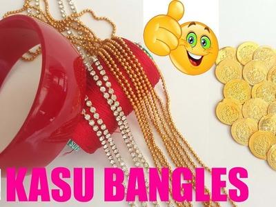 DIY IDEA. How to make kasu bangles using silk thread. jewelry making at home