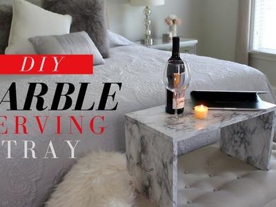 DIY MARBLE SERVING TRAY | DIY MARBLE DECOR