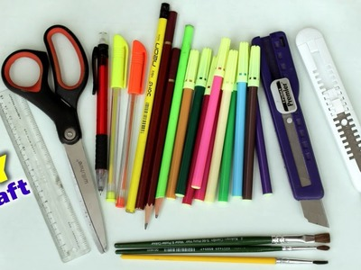 DIY Stationary Things for School   Best Out of Waste Idea 2018   Handmade Craft  School Supplies DIY