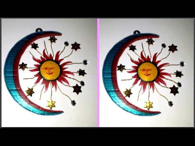 DIY Sun Moon Wall Decor From Cardboard at home | DIY Room.Wall Decoration Idea| Best out of waste