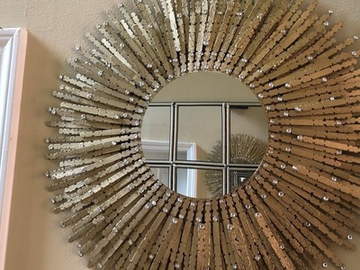 Dollar Tree DIY - ???? Gold Sunburst Wall Mirror ????