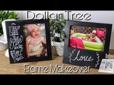 Dollar Tree DIY picture frame makeover | easy chalkboard lettering