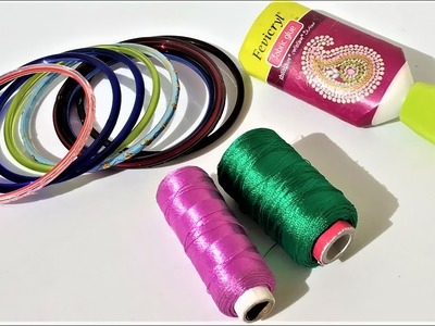 Easy Silk Thread Bangles Making Ideas | Reuse Ideas Of Old Bangles | PROFUSSION