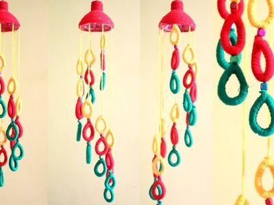 Empty Plastic bottle wind chime | Easy Best Out of Waste Wind Chime | Newspaper Creative Idea | DIY