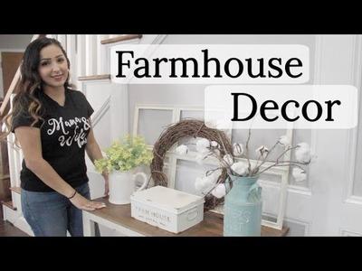 FARMHOUSE DECOR   DECORATE WITH ME   HOBBY LOBBY DECOR