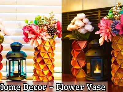 Flower Vase Decoration Ideas DIY   flower vase diy ideas   how to make a flower vase   home decor
