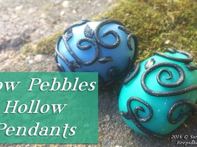 Glow Pebbles Hollow Beads or Necklace Pendants, Glow-In-The-Dark Polymer Clay Jewelry Tutorial