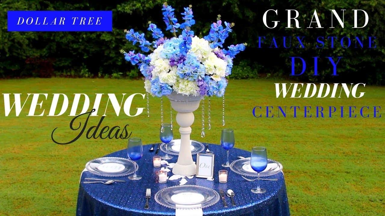 Cool Grand Faux Stone Diy Wedding Centerpiece Dollar Tree Diy Interior Design Ideas Inesswwsoteloinfo