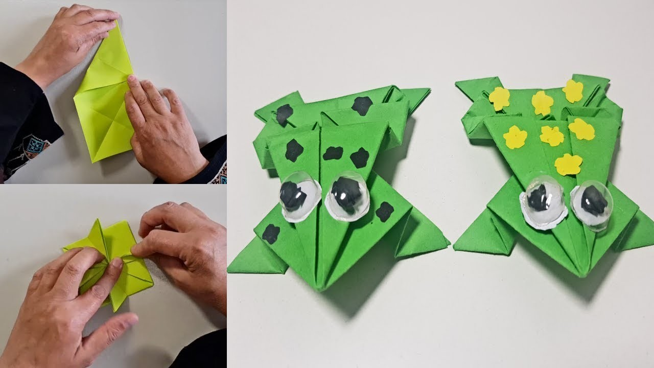 how to make a paper frog origami jumping frog