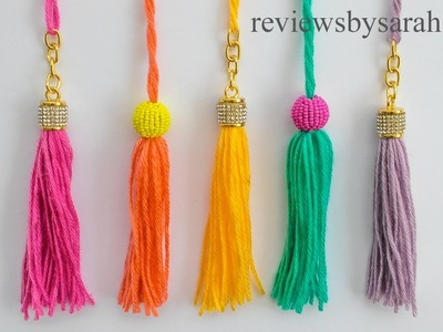 How to Make an Easy Tassel for Beginners - Quick and Simple Beginner Tassels