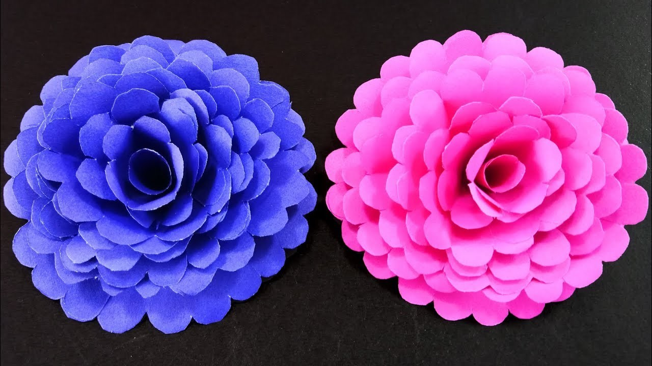 How To Make Easy And Simple Paper Flower Diy Paper Crafts