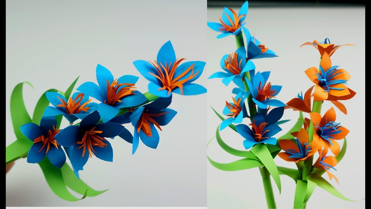 How To Make Easy Beautiful Paper Stick Flower Handcraft For Home