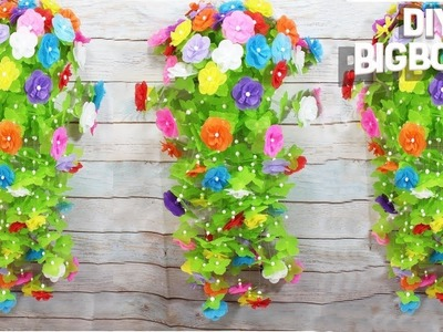 How to make flower wall hanging, Bottle craft ideas (New idea) | DBB