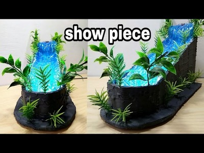 How to make fountain waterfall show piece with LED light