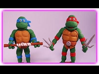 How to make Ninja Turtles with Playdough ?