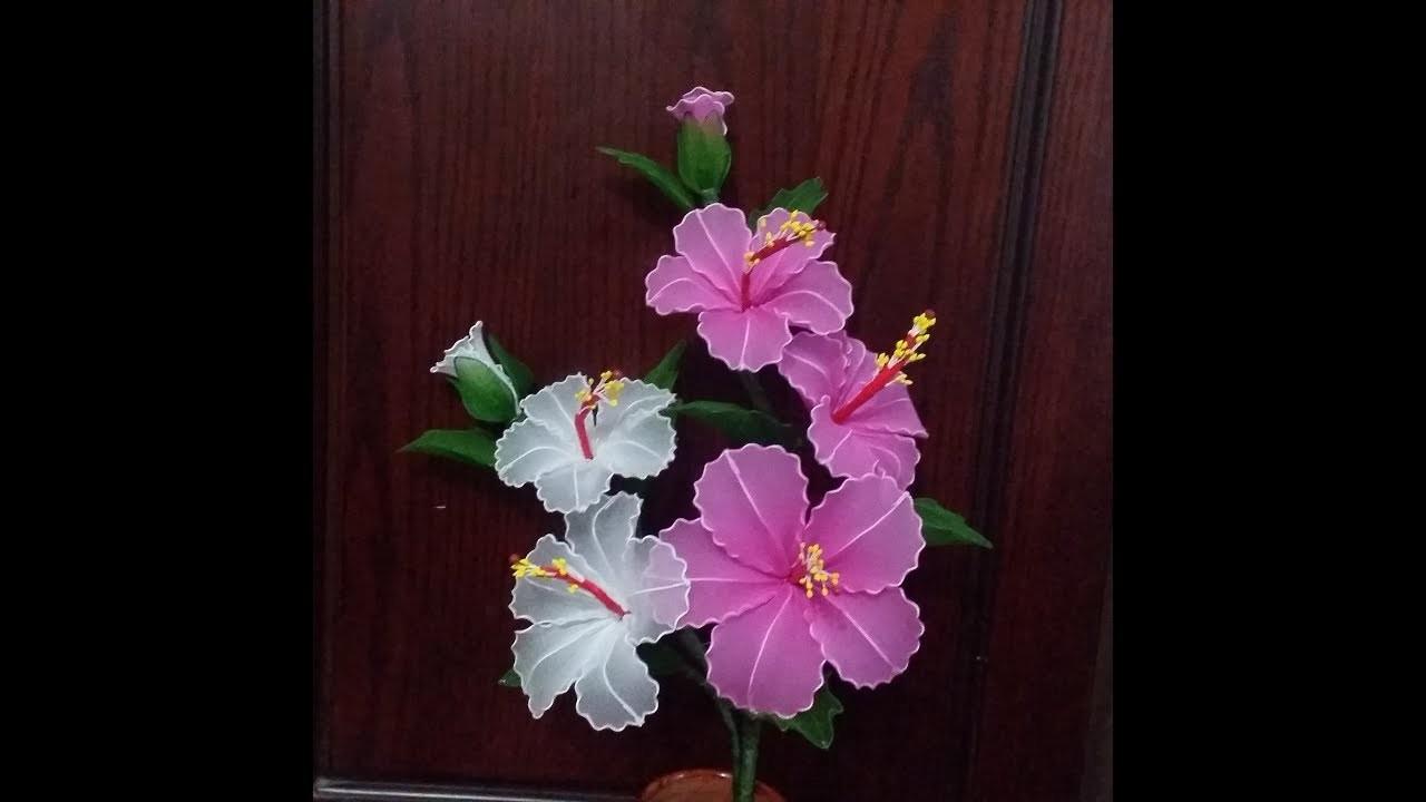 How to make nylon stocking flower Hibiscus