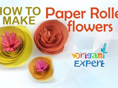 How to Make Origami Rolled Flower Easy
