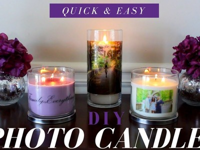 How to make PHOTO CANDLES| DIY PHOTO CANDLES | WEDDING or PARTY FAVOR IDEAS