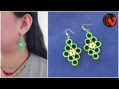 How to Make Quilling Earrings Tutorial. Paper Quilling Jewelry