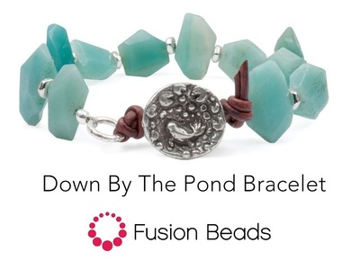 Learn how to create the Down by the Pond Bracelet by Fusion Beads