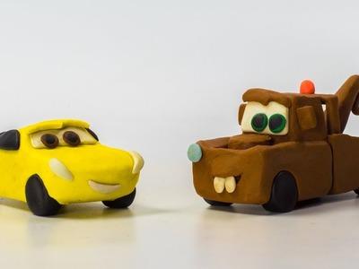LIGHTNING Strikes ⚡️ Mater Cruz Ramirez Lightning McQueen Jackson Storm Making Play-Doh STOPMOTION