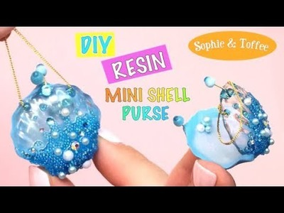 Mini shell purse- Sophie & Toffee- DIY- Tutorial- Resin
