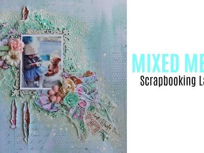 Mixed Media Scrapbooking Layout Tutorial- My Creative Scrapbook-Spanish Subtitles