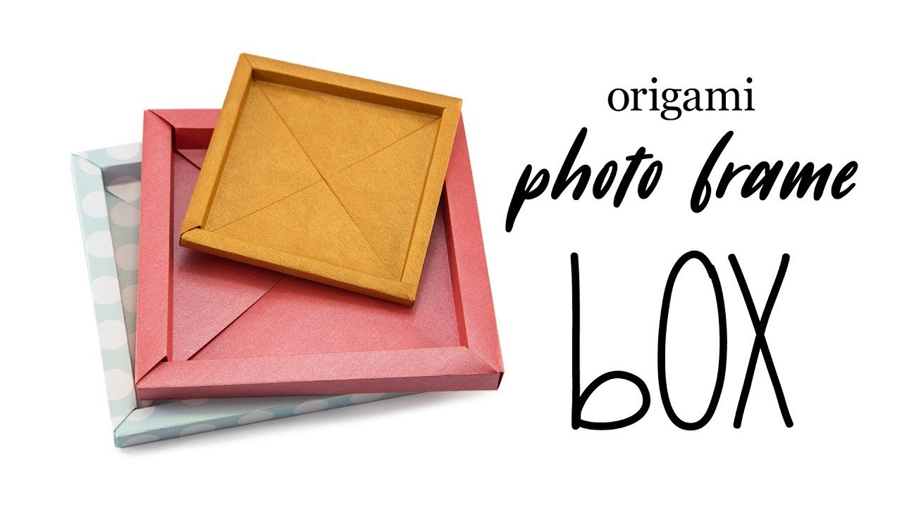 origami photo frame box tutorial origami paper storage