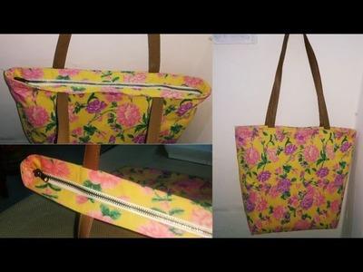 Perfect zipper Handbag Cutting and stitching in Hindi