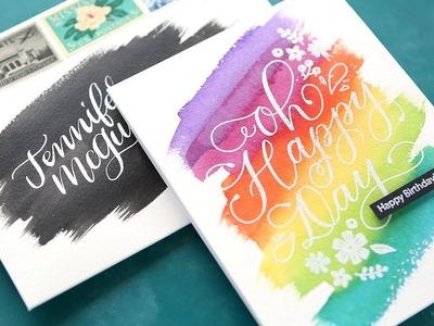 Quick & Easy Watercolor Brushstroke Card & Envelope