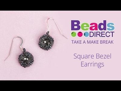 Square Bezel Earrings | Take a Make Break with Sarah Millsop