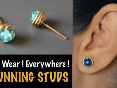 Stunning Studs   How to make Earstuds   Earring   Earpin   VHMJ