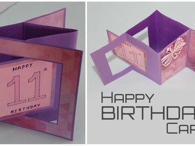 Swing Pop Out Card for Scrapbook | Birthday Card Ideas